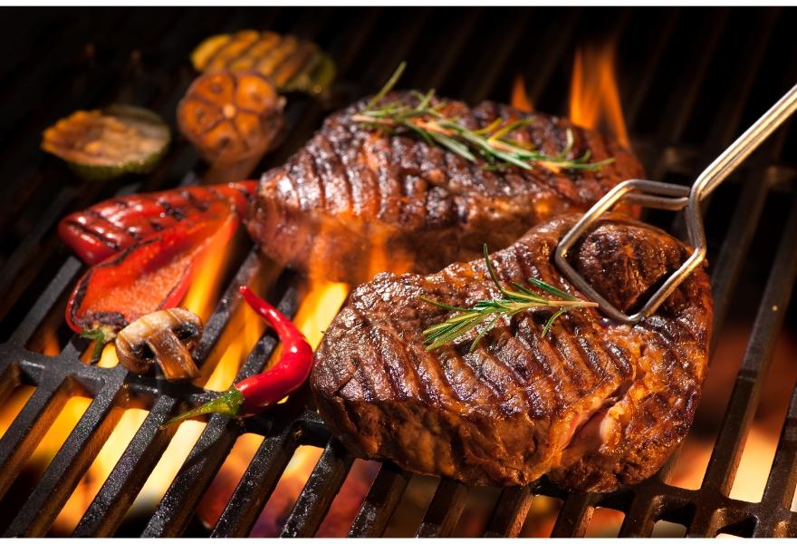 バーベキューの肉の量