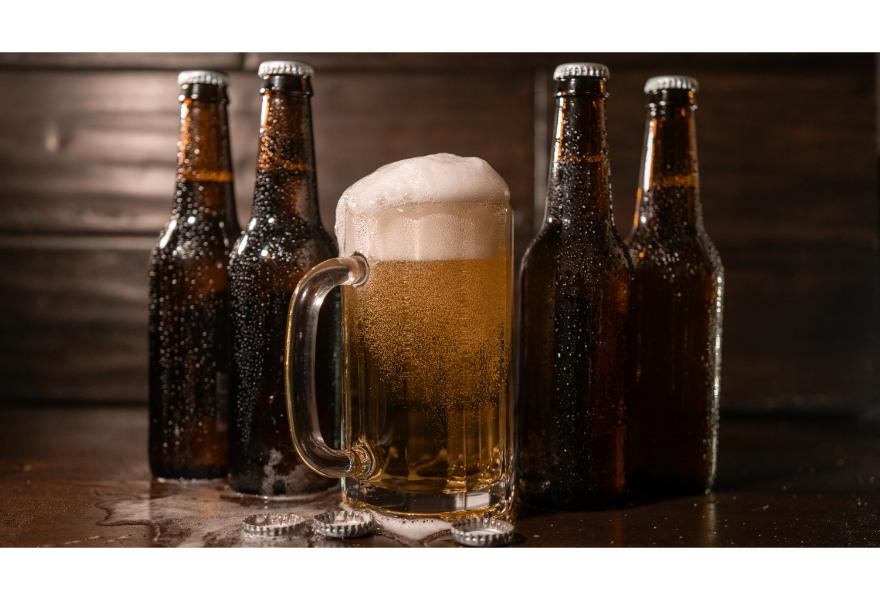 ビールと泡